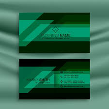 Green Card Template Green And Black Business Card Design Template Download Free Vector