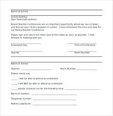 parent conference template 9 parent letter templates free sample example format download