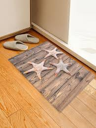Wooden <b>3D Starfish Pattern Print</b> Floor Mat #Ad , #SPONSORED ...