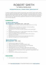 Medical Office Billing Manager Job Description Medical Billing Clerk Resume Samples Qwikresume