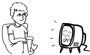 watching tv clipart black and white. clipart info watching tv black and white n