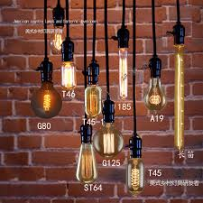 edison light bulb pendant light vintage nostalgia diy pendant lamp clothes bar table decoration pendant light in pendant lights from lights lighting on