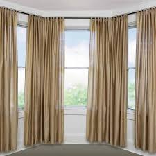 small bay window curtain rods
