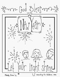 Small Picture New Years coloring sheets God bless our New Year Let your