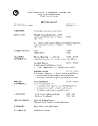 Substitute Teacher Resume Objective Substitute Teacher Resume Resume