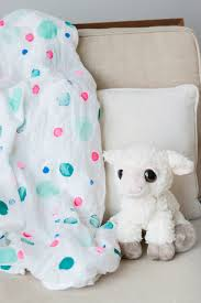 DIY Polka Dot Swaddle Blanket - The Sweetest Occasion
