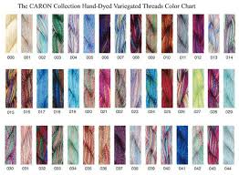 Caron Collection Chart Color Selection Guide