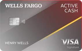 wells fargo active cash credit card