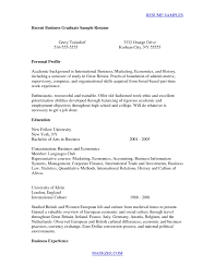 Resumes For Recent College Grads Reference Ideas Recent College