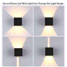 Led Light Angle Us 20 58 38 Off Outdoor Wall Led Lights Angle Adjustable Porch Led Light Waterproof Ip65 Wall Sconce White Black Cube Led Wall Mount Lamps In Led