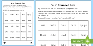 Based on jolly phonics, cartoonito activity sheets are a perfect resource to help support children each sheet provides activities for letter sound learning, letter formation, blending and segmenting. U E Sound Connect Five Worksheet Teacher Made
