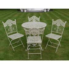 white iron garden furniture. brilliant garden shabby chic antique cream garden furniture wrought iron patio set with white iron garden furniture