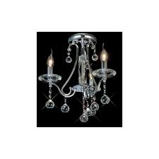 bianco 3 light chrome asfour crystal chandelier for low ceilings
