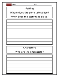 Writing template for Story elements by Ada Cortez | TpT