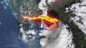 Vulcano alle Canarie, l'eruzione vista dallo spazio - MEDIA INAF