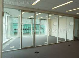 Glass Office Wall Solid Framed Frameless Glass Office Wall P