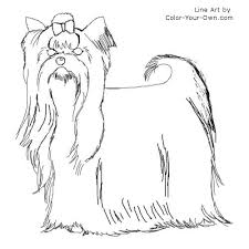Yorkie coloring pages are a fun way for kids of all ages to develop creativity, focus, motor skills and color recognition. Yorkshire Terrier Coloring Page