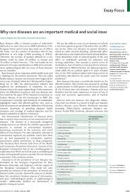 why rare diseases are an important medical and social issue the first page of article