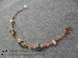 Simple <b>wire</b> bracelet for beginners - <b>Handmade</b> Jewelry Ideas 94 ...
