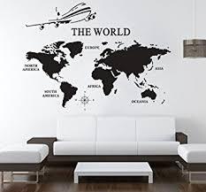 office world map. Large World Map Wall Decals Vinyl Art Sticker Office Decor Home P