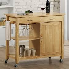 Rolling Kitchen Islands Flexibility Anywheresimple Brown Kitchen Island  With Cabinet Rolling Brown Kitchen Island