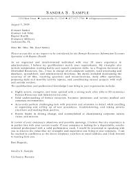 Human Resources Information Systems Hris Cover Letter Resource Job