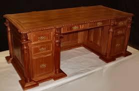 custom solid wood hand carved executive desks usa made