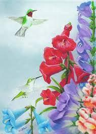 Garden Beauties Painting by Merle Blair