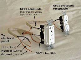 gfci load wiring electrical 101 gfci receptacle front view