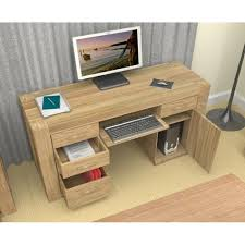 atlas chunky oak hidden home. atlas chunky oak twin pedestal office desk hidden home