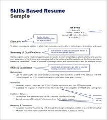 Skill Based Resume 19 Skills Format Techtrontechnologies Com