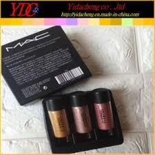 3 pieces 2 5g pigment glitter powder kit for mac cosmetics