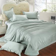 luxury king size bedding set queen light mint green duvet cover double bed in a bag sheet linen quilt doona bedsheet tencel western king comforter sets