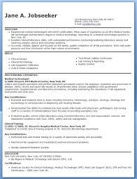 Medical Technologist Resume Examples  Inssite