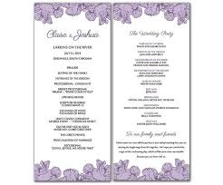 Free Microsoft Word Wedding Program Template Stylish Microsoft Word Wedding Program Template Free