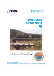 Design Manual For Roads And Bridges Volume 2 Design Manual For Small Bridges
