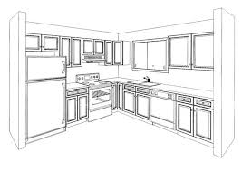 kitchen drawing perspective. Modren Kitchen Picture To Kitchen Drawing Perspective H