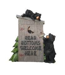 poly resin decorative wall plaque bear bottoms welcome for that country garden