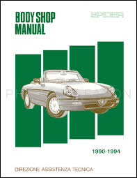 1990 1994 alfa romeo spider body shop manual reprint