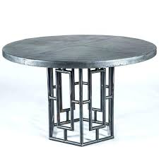 zinc top round dining table round zinc top dining table