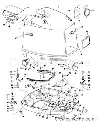 1981 evinrude outboards 150 e150trlcia motor cover johnson section