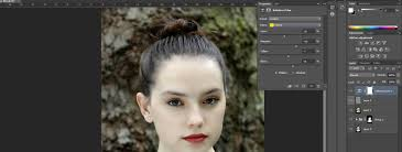 next select brush tool change opacity 37 for changing makeup around eyes and lips