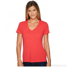 Mod O Doc Slub Jersey Short Sleeve V Neck Tee Rose Red 12622411