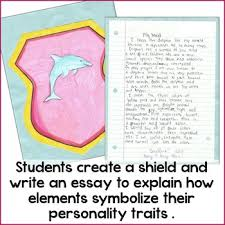symbolism essay and project personal shield by nouvelle ela tpt symbolism essay and project personal shield