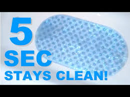 5 seconds to keep your bath mat clean