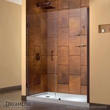 heavy glass shower door beautiful dreamline showers unidoor hinged shower door
