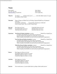 Gallery Of Free Microsoft Word Resume Template