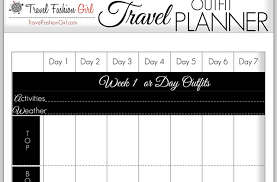 Planner 5 How To Plan Your Travel Outfits 5 Style Tools Show You How