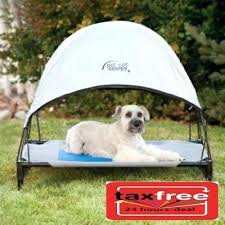 Outdoor Dog Bed With Shade Pet Cot Canopy Dog Bed Tent Outdoor Sun ...