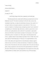 rationale essay outline uncg eng cameron keating  9 pages essay 2 death penalty final official